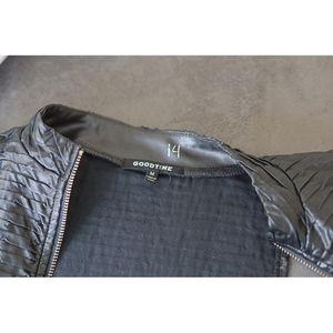 Goodtime Tops - Goodtime Black Biker Zip Front Crop top - Size Med